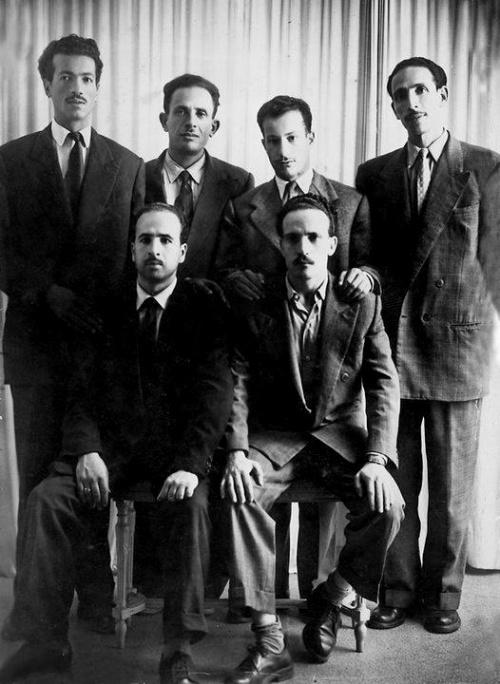 Le groupe des six fondateurs du FLN